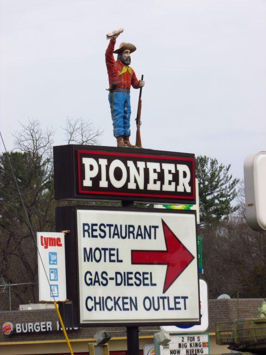 Pioneer Restaurant sign