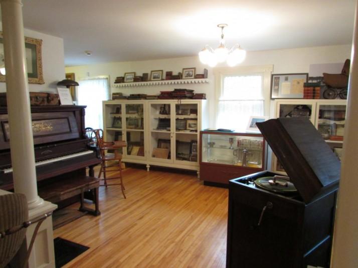 Left side of display room in Lodi museum