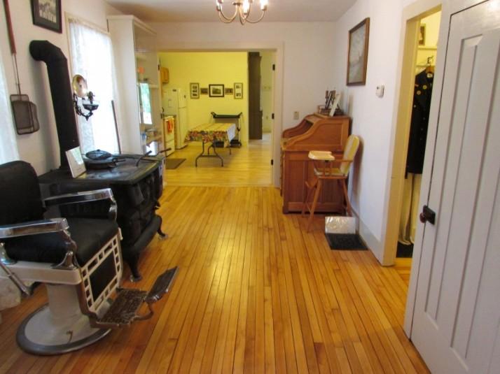 Hallway looking toward main room at Lodi museum