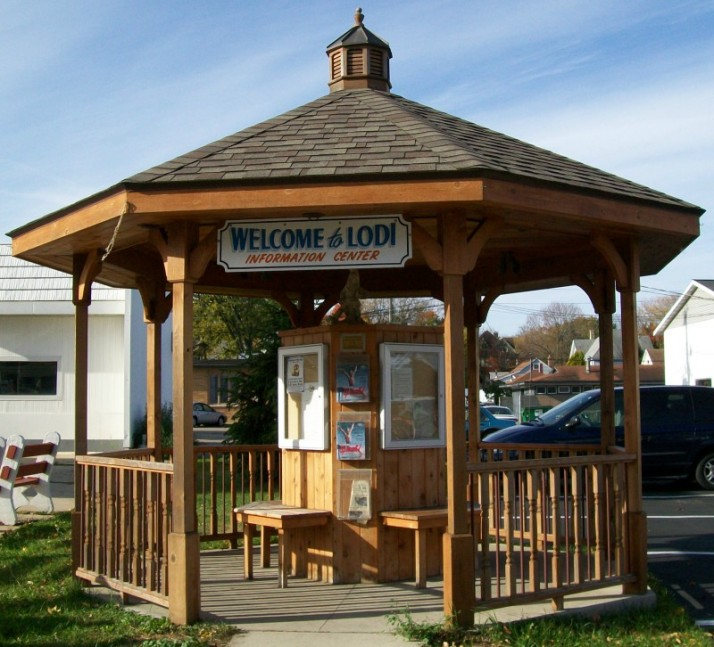 Lodi Information Center gazebo