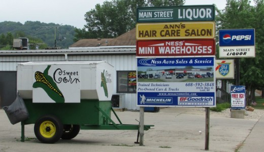 Main Street Liquor and Ness Corn Cart