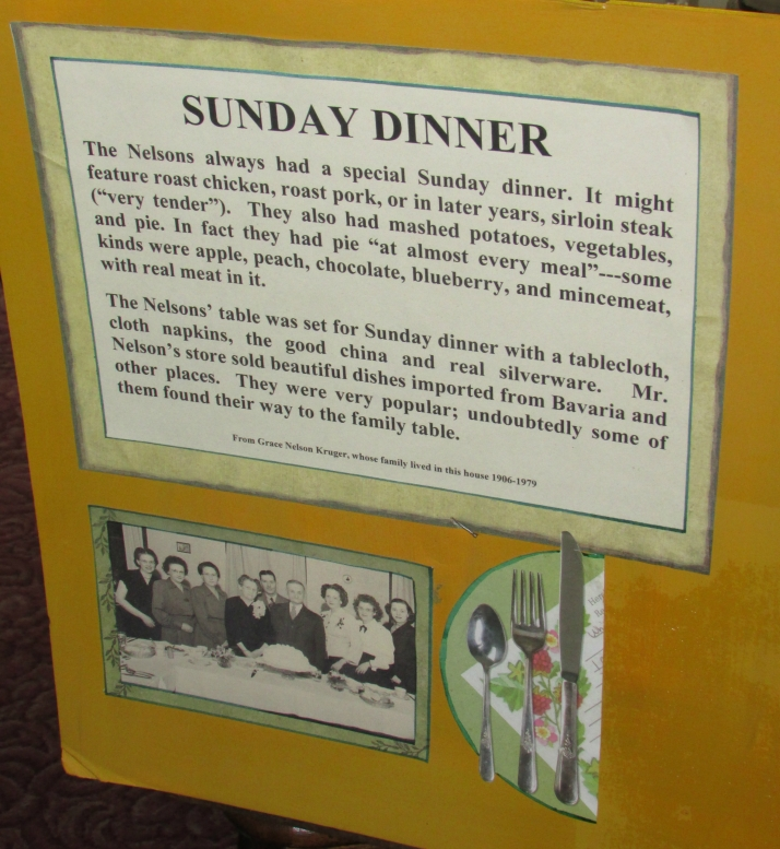 Sunday Dinner at Nelsons Westfield Museum