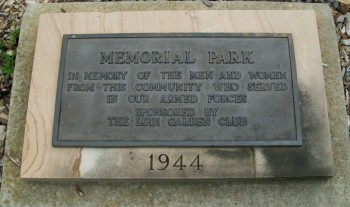 Veterans Memorial Plaque in Lodi