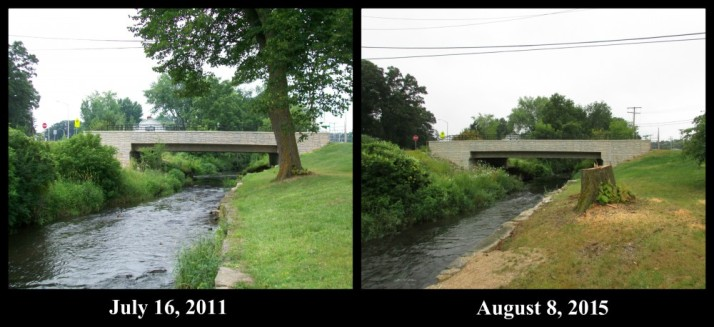 Veterans Park Bridge 2011 and 2015