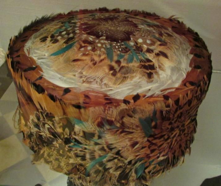 Women's Feather Hat in Lodi museum