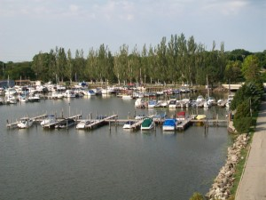 Fon du Lac Lighthouse view of Marina 8-29-12