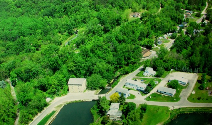 Aerial View of Pickwick Mill and pond