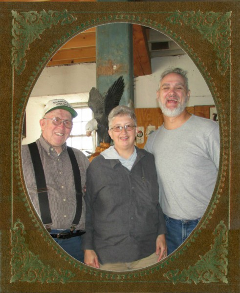 Al and Laurie  and docent frame