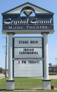 Crystal Grande Music Theatre sign 8-22-15