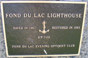 Fon du Lac Lighthouse plaque