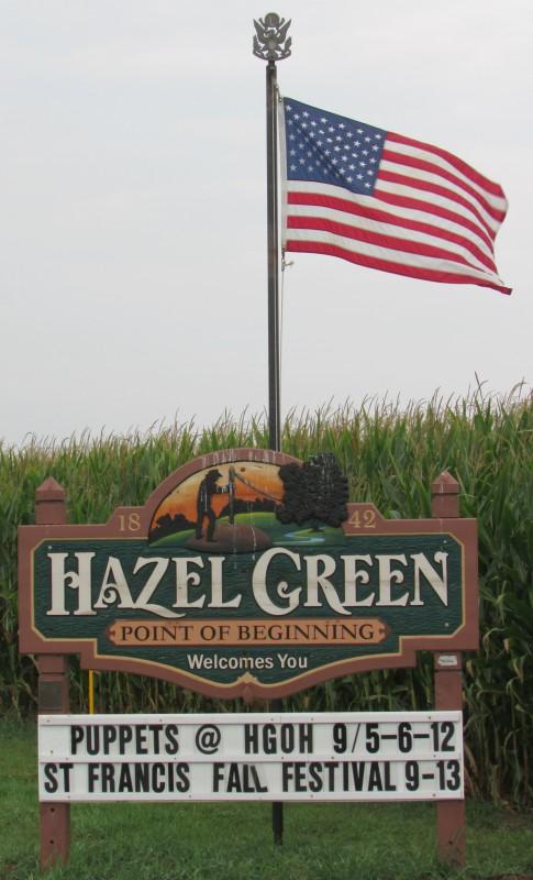 Hazel Green sign