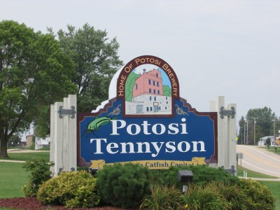 Potosi town sign
