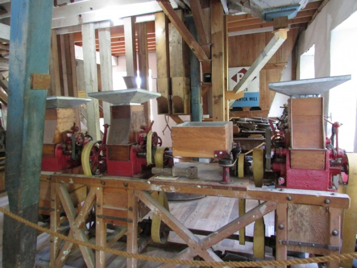 Main floor machinery at Pickwick Mill