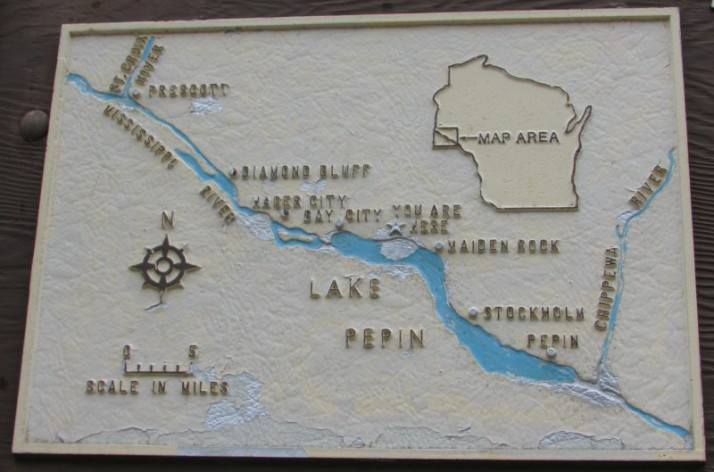 Lake Pepin Marker location