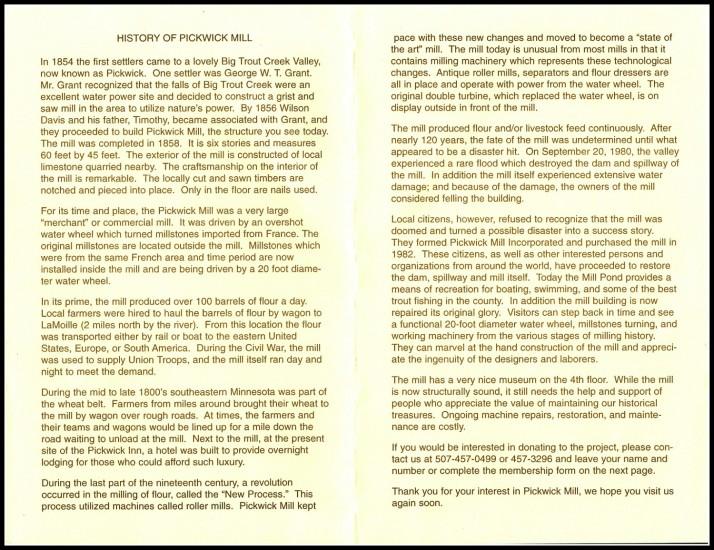 Pickwick Mill 2 history