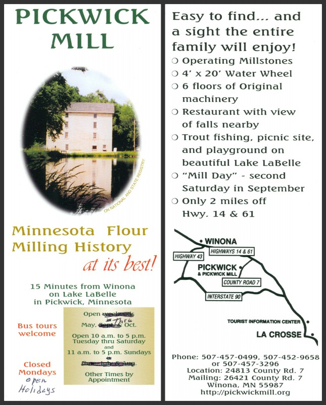 Pickwick Mill info card