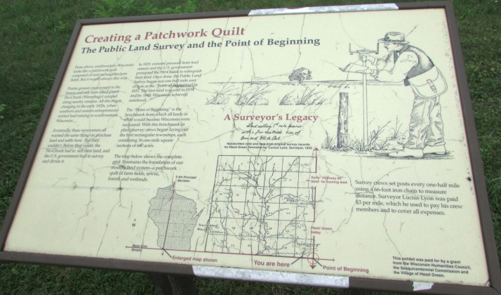 Public Land Survey sign in Hazel Green