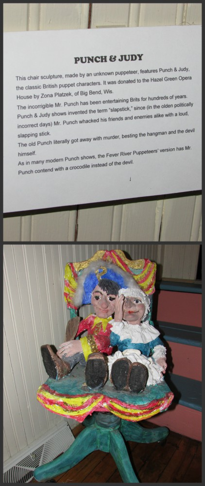 Punch and Judy Chair sculpture
