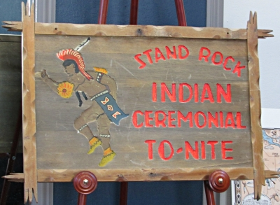 Stand Rock Indian Ceremonial Sign