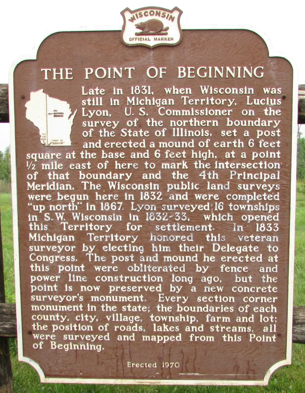 The Point of the Beginning Marker in Hazel Green