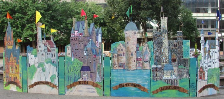 Castle Display by Landmark Center