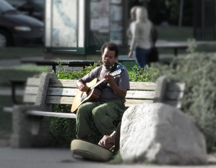 Guitar Player at Mill Ruins Park