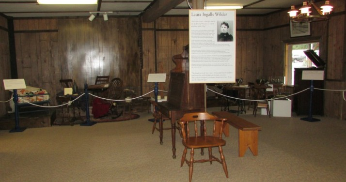 Home Life displays at Laura Ingalls Wilder Museum