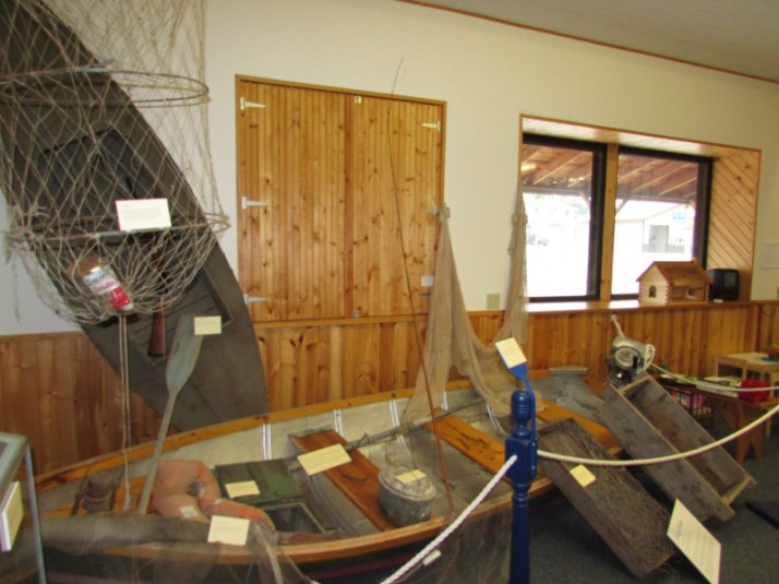 Fishing display at Laura Ingalls Wilder Museum