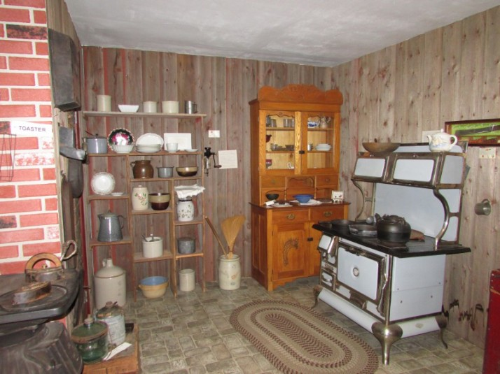 Kitchen exhibit at Laura museum