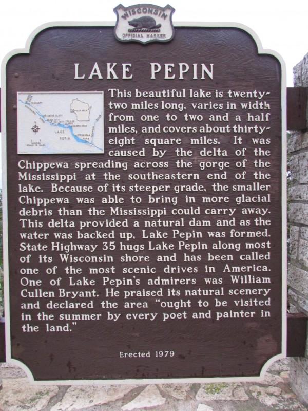 Lake Pepin Marker