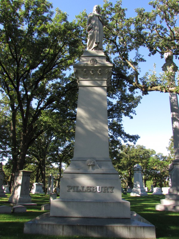 Pillsbury family monument in Minneapolis
