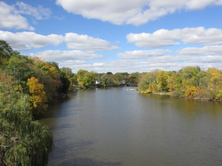 Rock River Fall Colors in Jefferson