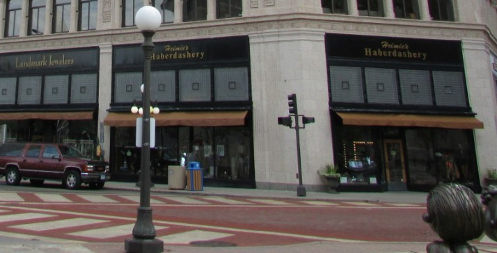 Landmark Jewelers and Heimie's Haberdashery in St. Paul