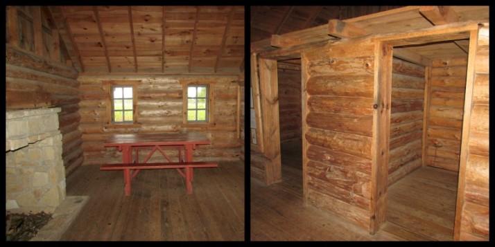 Laura wayside cabin inside