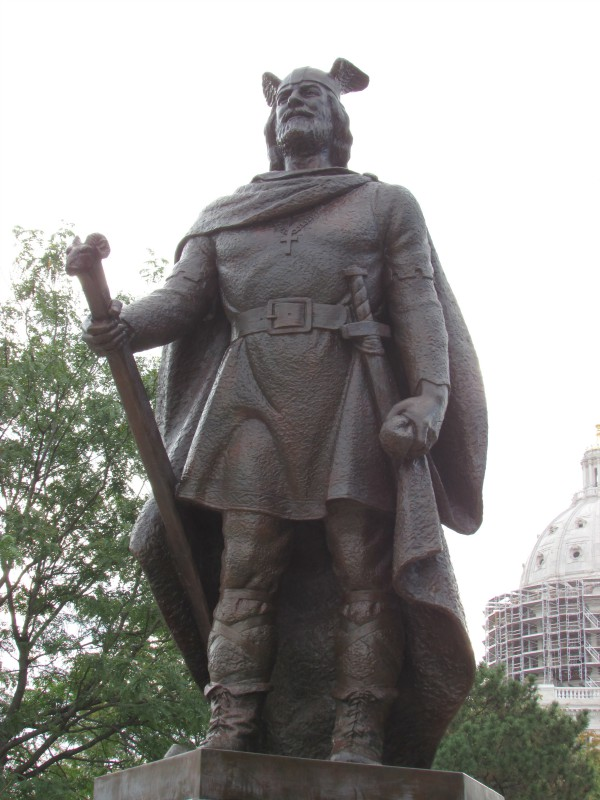 Leif Erikson statue in St. Paul