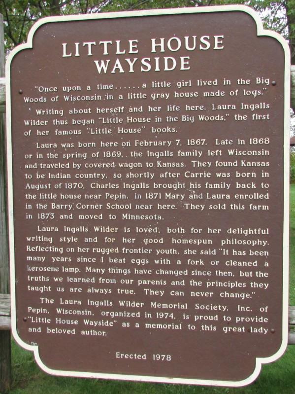 Little House Wayside marker