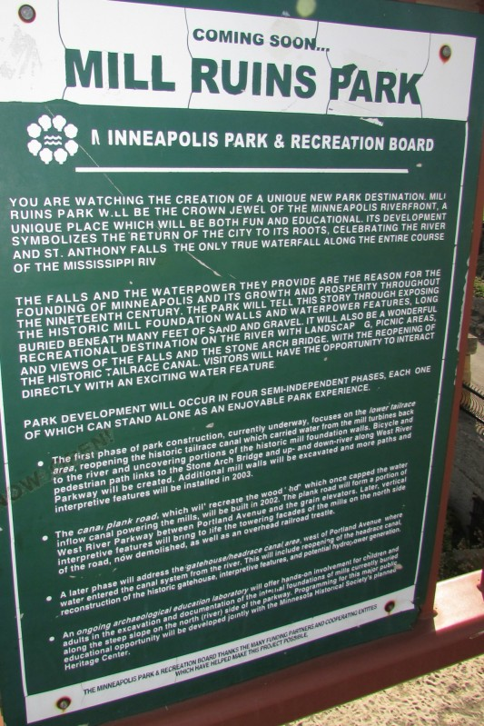 Mill Ruins Park sign