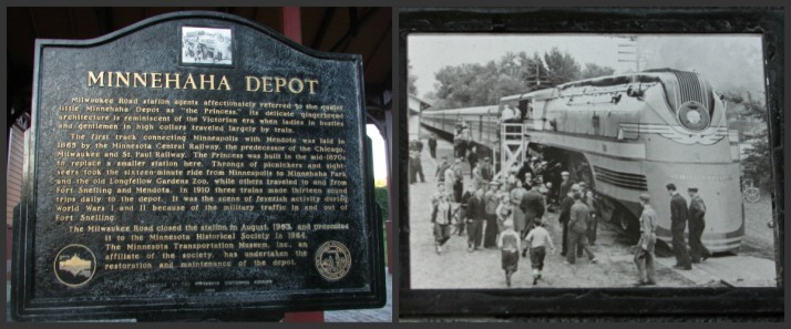 Minnehaha Depot Marker and picture