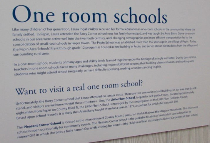 One Room Schools sign
