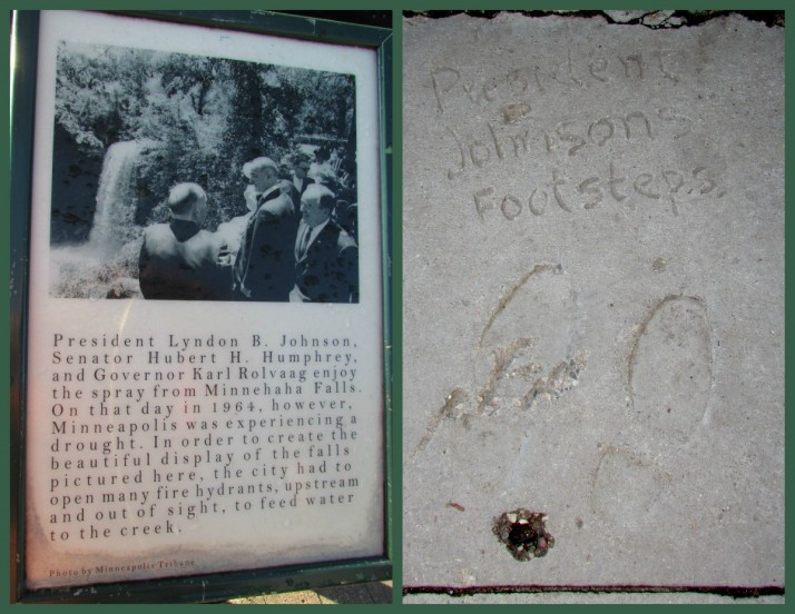 President Johnson's Visit at Minnehaha Falls