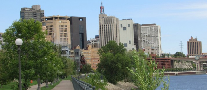 St. Paul Skyline from Mississippi River Trail