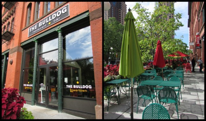 The Bulldog restaurant in Lowertown