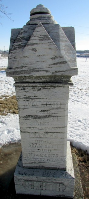 Adam and Mary Smith grave at Burke Cemetery