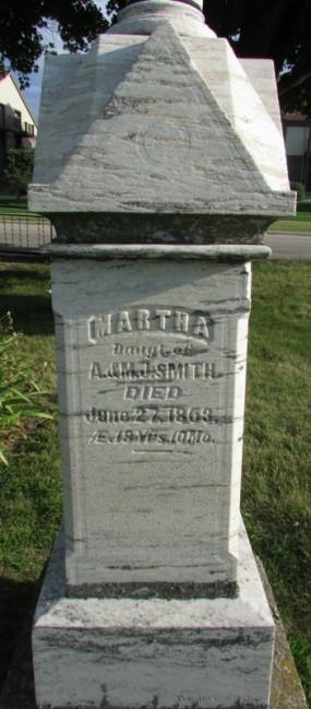 Burke Early Settler Adam Smith grave at Burke Cemetery
