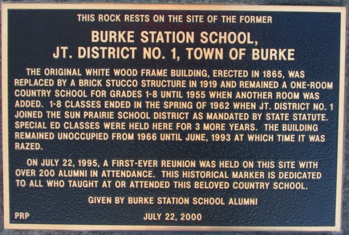 Burke Station School District 1 marker