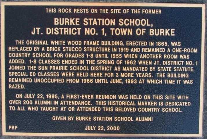 Burke Station School District 1 marker