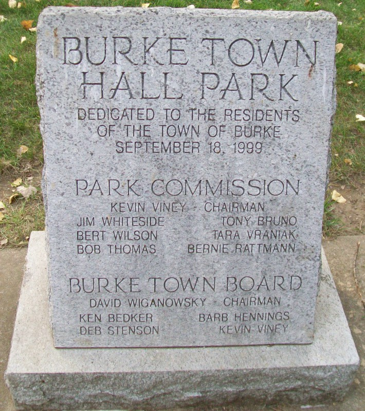 Burke Town Hall Park monument