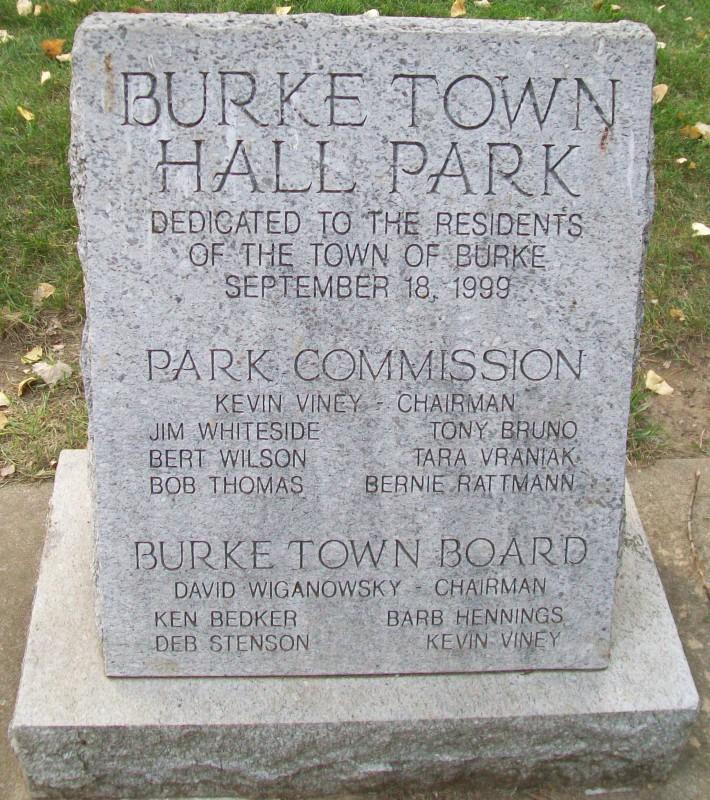 Burke Town Hall Park monument