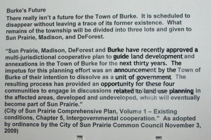 Burke's Future sign
