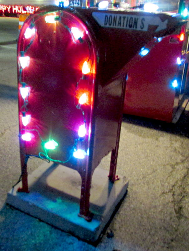 Donation box at Lights